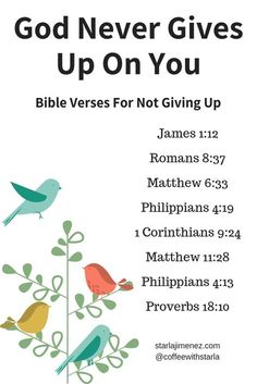 Bible Verses for not giving up. When the pain has been going on for so long and you feel like giving up, sit at the feet of Jesus and read these scriptures verses on not giving up. Scripture Verses, Bible Verses Quotes, Bible Scriptures, Bible Art, Bible Quotes For Strength, Catholic Bible Verses, Juan Xxiii, Writing Plan, Online Bible Study