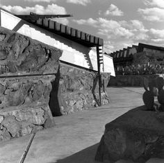 Taliesin West in Photograph by Robert Carroll May. Credit: The Frank Lloyd Wright Foundation Archives (The Museum of Modern Art Frank Lloyd Wright, Museum Of Modern Art, Columbia, Foundation, Photograph, University, Houses, York, Fine Art