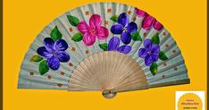 abanicos pintados a mano Fan Decoration, Vintage Fans, One Stroke Painting, Craft Party, Crafts, Hand Fans, Ladies Gloves, Umbrellas, Sensual