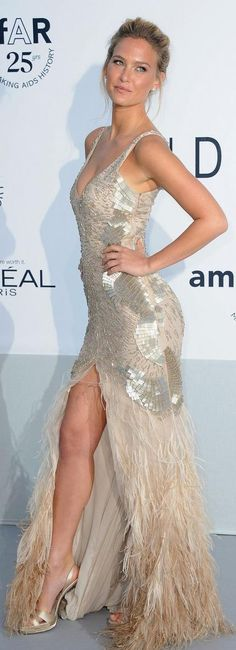 Bar RafaelI. This dress is stunning! Doesn't hurt that she could wear a trash bag and look amazing.