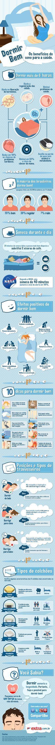 Infográfico Benefícios do Sono