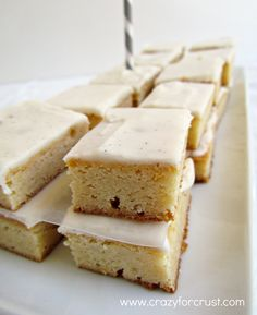 Very Vanilla Bars {50 S hades of Grey Desserts} - Crazy for Crust | Crazy for Crust - Love vanilla!