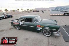 James Crosby's #ProTouring 1956 Chevy Bel Air at #DriveOPTIMA Las Vegas 2015