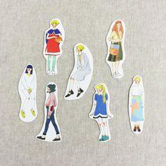La Dolce Vita Women Hai Stickers - Psychedelic Girl Sticker Series