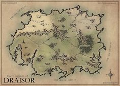 A commission map that I made for striving author Charles White for his fantasy book depicting the setting, the Kingdom of Draisor. The Kingdom of Draisor 2015 Dnd World Map, Fantasy World Map, Fantasy Books, Rp Ideas, Dungeon Maps, Medieval Fantasy, Pen And Paper, Plans, Drawing Reference