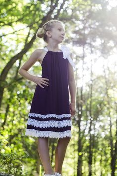 Sado Plum Knit Pillowcase Dress - FREE SHIPPING on orders over $50!! www.SadoBoutique.com Children's Boutique Clothing, Vintage Inspiration, infant, toddler, girl, and tween sizes. If you like Persnickety or Mustard Pie you will love this brand!