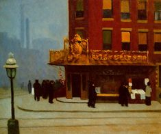 Edward Hopper New York Street Corner painting for sale, this painting is available as handmade reproduction. Shop for Edward Hopper New York Street Corner painting and frame at a discount of off. American Realism, American Artists, Edouard Hopper, Edward Hopper Paintings, Ashcan School, Robert Rauschenberg, David Hockney, Art Moderne, Painting Art