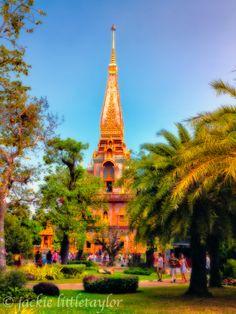 tourist at  Wat Chalong Phuket Thailand impression