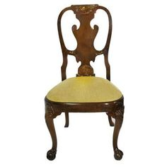 Check out this item at One Kings Lane! Georgian Burl Walnut Dining Side Chair