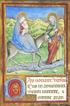 Christ: Flight into Egypt, detail—Flight into Egypt | Book of Hours | Italy, probably Milan | ca. 1470 | The Morgan Library & Museum