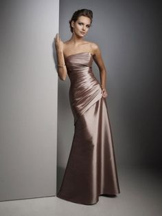 Charming Floor-Length Sleeveless Sheath/Column Satin Long Dress
