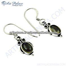 925 Sterling Silver Earrings, Top Quality Silver Smokey Quartz Gemstone Earrings $1000~$1500