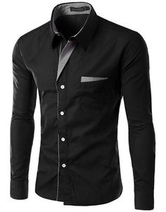 Long Sleeve Slim Men Shirt (13 Colors) | Shirts for men, Single ...