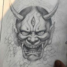 Likes, 30 Comments – Irezumi Collective ( – Graffiti World Tattoo Mascara, Mascara Oni, Japanese Mask Tattoo, Japanese Tattoo Women, Japanese Tattoos, Demon Tattoo, Dark Tattoo, Half Sleeve Tattoo Template, Hanya Tattoo