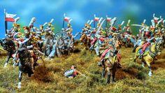 Peinture de Guerre: Lanciers rouges de la Garde