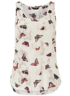 Butterfly print vest - Tops & T-Shirts  - Clothing