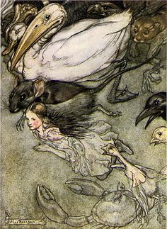 How Arthur Rackham's 1907 Drawings for Alice in Wonderland Revolutionized the Carroll Classic, the Technology of Book Art, and the Economics of Illustration – Brain Pickings Arthur Rackham, Alicia Wonderland, Adventures In Wonderland, Edmund Dulac, Lewis Carroll, Illustration Alice In Wonderland, Alice Liddell, Film Tim Burton, Guache