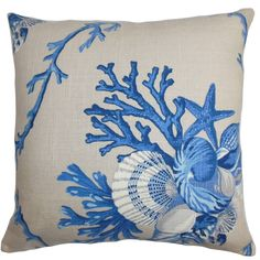 Features:  -Maj collection.  -Hidden zipper closure.  -Made in the USA.  Product Type: -Throw pillow.  Style (Old): -Coastal.  Shape: -Square.  Cover Material: -Linen.  Fill Material: -Down/Feather.