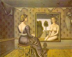 Paul Delvaux「mirror」