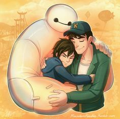 "Hiro, Tadashi & Baymax "" Tadashi is the Nii-san (Big Brother) I never had T_T Sorry, I've been avoiding Tumblr lately because the premiere of Big Hero 6 in Malaysia was a week after it was out in the States. So yeah, spoilers galore all over the..."