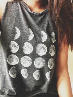 shirt moon phase grey tumblr moon phases t-shirt tshirt sweater