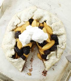 Peach and Blackberry Crostata // Elisabeth and Butter