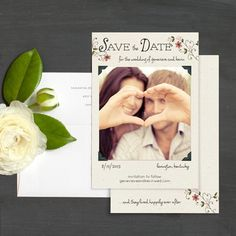 Happily Ever After Save The Date Cards by Elli