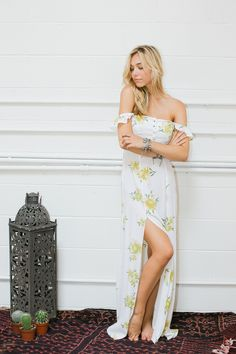 Bardot Maxi Dress | Golden Poppy
