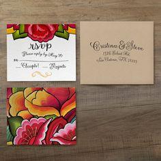 Oaxaca Wedding Invitation - Oaxaca Suite - por iinviteyou en Etsy