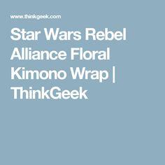 Star Wars Rebel Alliance Floral Kimono Wrap | ThinkGeek