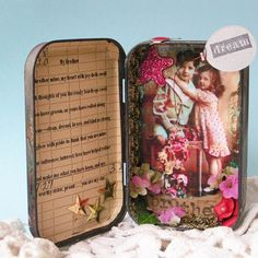 This lovely altered tin  by 'Whyte' would be a brilliant way to mark a brother's birthday!