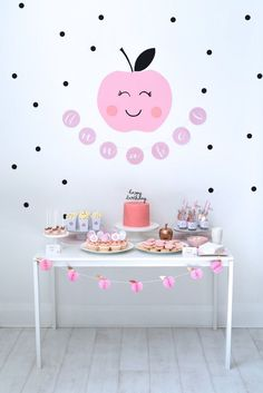 Dessert Table from an Apple of my Eye Themed Birthday Party via Kara's Party Ideas |KarasPartyIdeas.com (24)