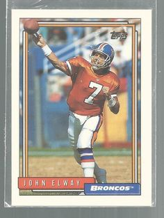 John Elway Denver Broncos 1992 Topps Football Card #DenverBroncos