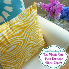 super crazy easy fast ten minute one piece envelope pillow covers thumbnail at thehappyhousie