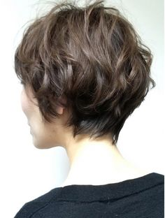 Short Hairstyles Fine, Short Curly Haircuts, Short Wavy Hair, Short Hair With Layers, Curly Hair Cuts, Bob Hairstyles, Japanese Short Hair, Shot Hair Styles, Grunge Hair