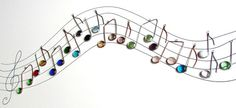 Three Custom Glass Musical Note Suncatcher Ornaments Your Choice of Colors via Etsy