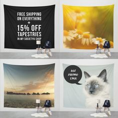 FREE WORLDWIDE SHIPPING + 15% OFF WALL TAPESTRIES