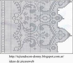 crochet fabric , CROCHET - GANCHILLO - PATRONES - GRAFICOS: CORTINA