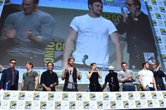 Watch Robert Downey, Jr. dance on stage for the 'Avengers: Age of Ultron' Comic Con panel