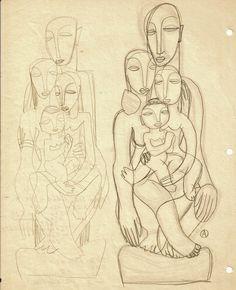 The Human Family I Adolf Odorfer Graphite on paper 28 x 21.5 cm.