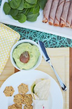 Smooth and creamy avocado and cream cheese dip seasoned with garlic, basil and lemon. Perfect for dipping veggies, on sandwiches or wraps, or on top of savory crepes or omelets. Find this recipe and more at www.breezybakes.com. Follow me @breezybakes1