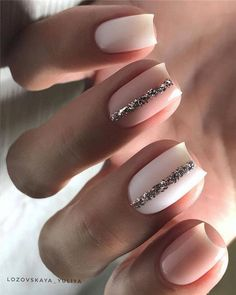 Easy Spring Nail Designs Ideas You Are Loving 2019 Every girl loves beautiful nails, and nails are the first thing we notice each other. Therefore, we need to take good care of them. we collected beautiful spring nail designs for girls who love be. Square Nail Designs, Short Nail Designs, Nail Designs Spring, Accent Nail Designs, Nude Nails, White Nails, My Nails, White Short Nails, Wedding Nail Polish