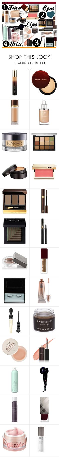 """Contest:: Fall Date Night (Beauty)"" by sbhackney ❤ liked on Polyvore featuring beauty, Kevyn Aucoin, Tom Ford, Christian Dior, Urban Decay, Viseart, Laura Mercier, Clarins, NARS Cosmetics and Lancôme"