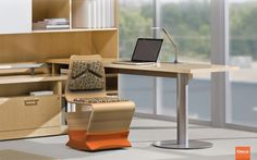 The Osca Task Chair aims to challenge the conventions of existing task chairs. It encourages active movement in the static nature of sitting through the rocking base. The ply seat is contoured to embrace the form of the human body, and the upholstery is designed to support the points of most pressure with the seat.
