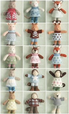 Little Cotton Rabbits. These are knit but could be converted. Find these patterns @Sandy Cobaugh.com.