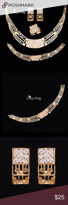 Gorgeous African bracelet gold plated African Jewerlry bracelet 18K gold plated with Austrian crystal African Jewelry Necklaces