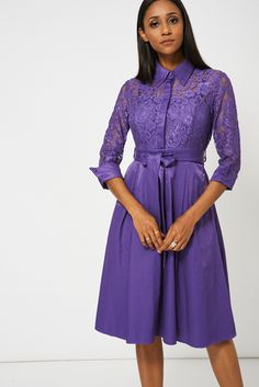 Purple fashion dress summer