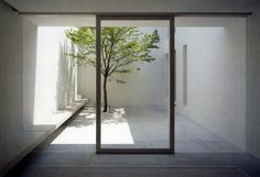 View towards the patio from inside the Tetsuka House by John Pawson.