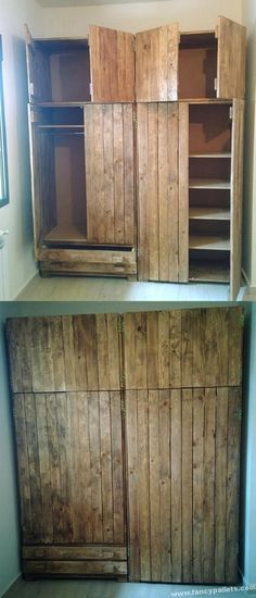 Easy and unique wooden storage ideas wooden pallet furniture, cute furniture, pallet Cute Furniture, Wooden Pallet Furniture, Wooden Pallets, Wooden Diy, Pallet Wood, Diy Wood, Pallet Patio, Folding Furniture, Rustic Furniture