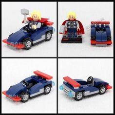 THOR Minifigure & Car Vehicle Playset AVENGERS Blocks Building Toy NEW #Minifigure